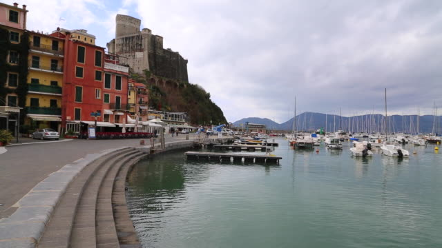 Italian riviera, view of the harbour of Lerici