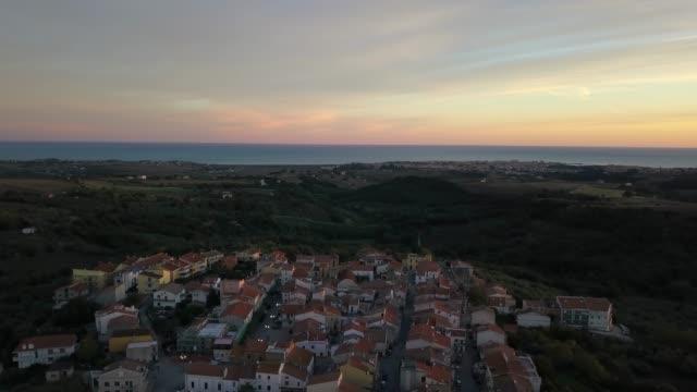 Italian Town Near The Sea Aerial