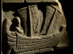 Italy Pisa Ancient boats discovered ENGLAND London British Museum INT Sculpture of roman boat
