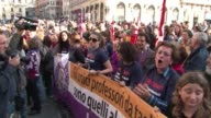 Italys trade unions staged small protests and strikes in dozens of cities across the country on a day of mobilisation against austerity measures by...