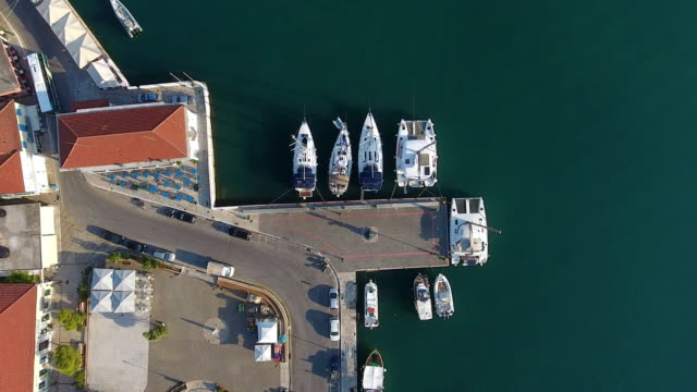 Ithaca yachts parking aerial view