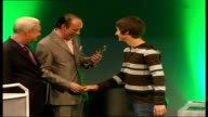 Turner collecting award on stage Alex Turner interview SOT My mum has come down with me today I've been sitting with her she saw Rolf Harris when she...