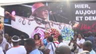 Ivory Coast inaugurates a square in its capital in tribute to the idol of Congolese song Papa Wemba at the site of the Festival of Urban Music where...