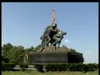 Iwo Jima memorial against blue sky Washington DC
