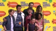 Jace Norman Ella Anderson Cooper Barnes Jeff Brown Riele Downs Sean Ryan Fox and Kelly Sullivan at Nickelodeon's 28th Annual Kids' Choice Awards at...