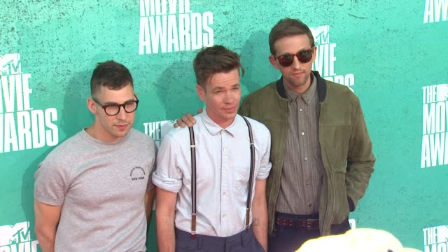 Jack Antonoff Nate Ruess Andrew Dost of Fun at 2012 MTV Movie Awards Arrivals at Gibson Amphitheatre on June 03 2012 in Universal City California