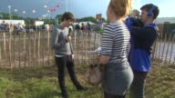 BROLL Jack Bugg Interview at Glastonbury Festival Site on June 29 2014 in Glastonbury England