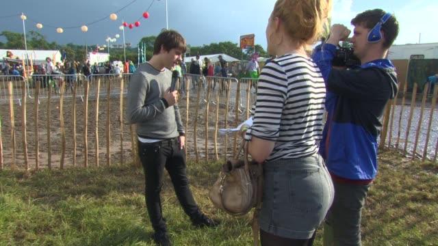 BROLL Jack Bugg Interview at Glastonbury Festival Site on June 29 2014 in Glastonbury England