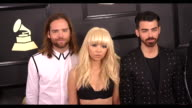 Jack Lawless JinJoo Lee Joe Jonas and Cole Whittle at 59th Annual Grammy Awards Arrivals at Staples Center on February 12 2017 in Los Angeles...