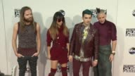 Jack Lawless JinJoo Lee Joe Jonas Cole Whittle DNCE at 2015 American Music Awards Arrivals in Los Angeles CA