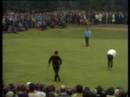 Jack Nicklaus takes his time on 15th green then sinks long putt World Matchplay Championship Final Wentworth 1970