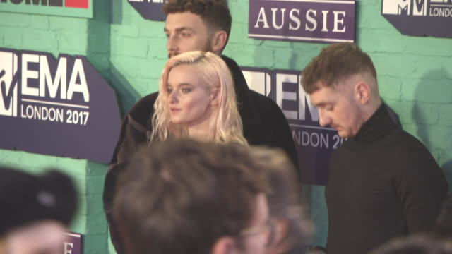 Jack Patterson Grace Chatto Luke Patterson Clean Bandit at MTV EMA Awards at The SSE Arena Wembley on November 12 2017 in London England