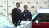 Jack Pitney and Apolo Anton Ohno at the BMW Group The United States Olympic Committee Announce New Partnership at New York NY