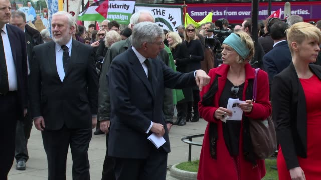 Jack Straw at Tony Benn funeral at St Margaret's church on March 27 2014 in London England