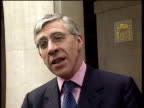 Jack Straw MP depends Labour Party policies after members of Women's Institute jeered speech given by Tony Blair London 08 Jun 00