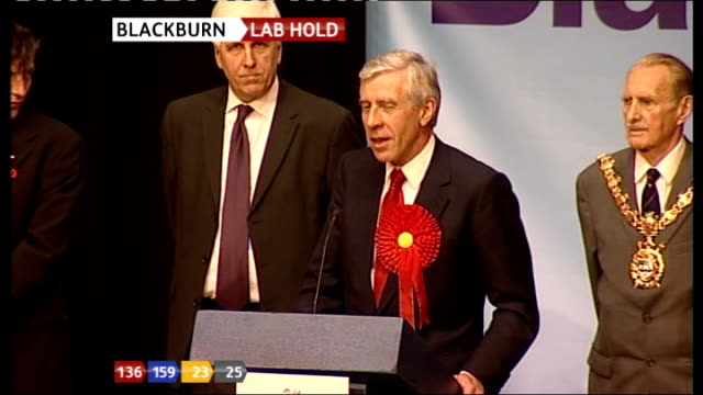 SPECIAL 0300 0400 Jack Straw MP LIVE thank you and acceptance speech SOT **flash photography**