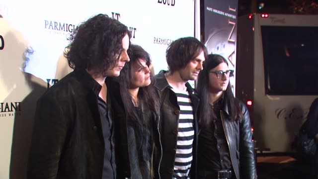 Jack White Alison Mosshart Dean Fertita Jack Lawrence at the 'It Might Get Loud' Premiere Party at Los Angeles CA