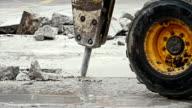 Jackhammer excavator truck