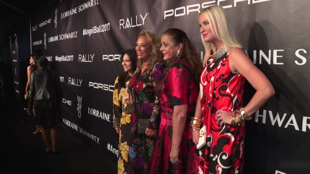 Jackie Martin Denise Rich Nurit Kahane and Lana Smith at Angel Ball 2017 at Cipriani Wall Street on October 23 2017 in New York City