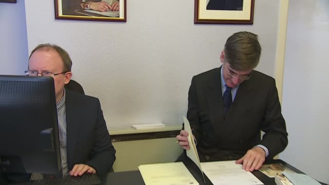 Jacob ReesMogg 'completely opposed to abortion' FILE Somerset INT Jacob ReesMogg MP working at desk in his constituency office photograph of Prime...