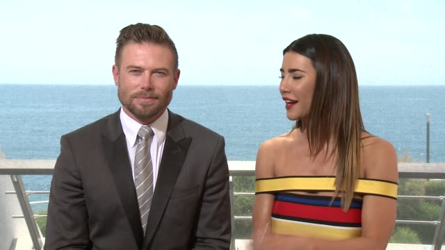 INTERVIEW Jacob Young and Jacqueline MacInnes Wood at 55th Monte Carlo TV Festival Day 1 on June 15 2015 in MonteCarlo Monaco
