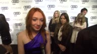 Jacqueline Emerson on kicking off Golden Globe week at this party at the Audi And Martin Katz Celebrate The 2012 Golden Globe Awards in West...