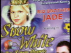 Jade Goody appears in pantomime **MUSIC OVERLAY Big Brother music sountrack** Poster advertising pantomime