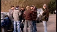 Jade Goody arrives home from hospital ENGLAND Essex Upshire EXT Various press waiting outside Jade Goody's house / Jackiey Budden asking...