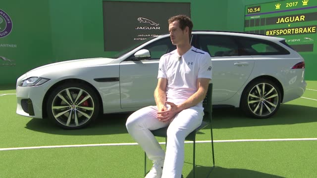 Jaguar PR event sponsors of Wimbledon Tennis Anthony Joshua and Andy Murray interviews Andy Murray interview on his recent matches SOT / Andy Murray...