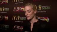 INTERVIEW Jaime King talks about the World Cup being the biggest deal on her love for McDonald's on her TV show at The 2014 FIFA World Cup McDonald's...