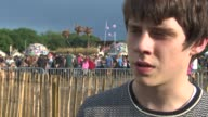 INTERVIEW Jake Bugg on being at Glastonbury playing at the festival his survival tips at Jack Bugg Interview at Glastonbury Festival Site on June 29...