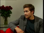 Jake Gyllenhaal interview Jake Gyllenhaal interview with Vanessa Langford SOT initial reaction was to turn down role in 'gay cowboy' movie/ when Ang...