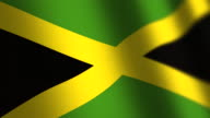 Jamaica flag - loop. 4K.