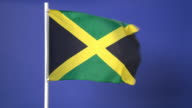 Jamaican flag on green screen