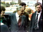 James Callaghan and wife Audrey arrive at Transport House on day he was named as Prime Minister 05 Apr 76