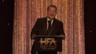 SPEECH James Corden at 20th Annual Hollywood Film Awards in Los Angeles CA