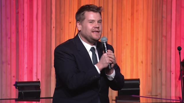 SPEECH James Corden at Hollywood Stands Up To Cancer Presented By The Entertainment Industry Foundation And Event Chairs Jim Toth And Reese...
