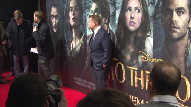 James Corden at 'Into The Woods' UK Film Premiere at The Curzon Mayfair on January 07 2015 in London England