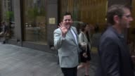 James Corden at SiriusXM Satellite Radio poses for photos with fans in New York City in Celebrity Sightings in New York