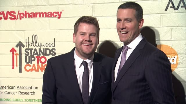 James Corden Jim Toth at Hollywood Stands Up To Cancer Presented By The Entertainment Industry Foundation And Event Chairs Jim Toth And Reese...