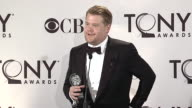 James Corden on his unexpected victory at 66th Annual Tony Awards Press Roomat The Beacon Theatre on June 10 2012 in New York New York