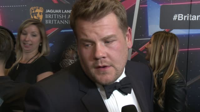 INTERVIEW James Corden on how it feels to be honored tonight on if he's nervous for payback from his friend and tonight's host Jack Whitehall at 2015...