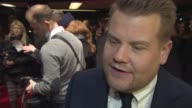 INTERVIEW James Corden on narrating the film how he feels about his up and coming show in the US at 'Into The Woods' UK Film Premiere at The Curzon...