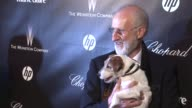 James Cromwel Uggie at The Weinstein Company Golden Globe AfterParty at The Beverly Hilton Hotel on 1/15/12 in Los Angeles CA