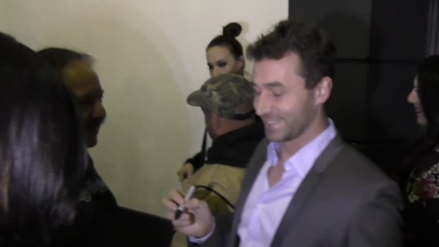 James Dean greets fans arriving to the AVN Awards Nomination Party at Avalon Nightclub on November 17 2016 in Hollywood California