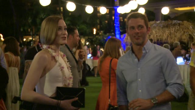 James Marsden and Evan Rachel Wood at The Taste of Chocolate event 2014 Maui Film Festival At Wailea Day 3 on June 06 2014 in Wailea Hawaii