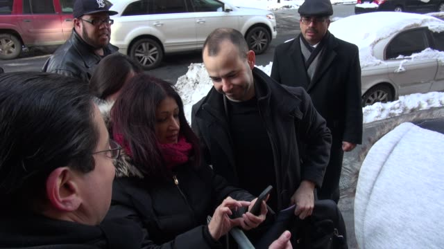 James 'Murr' Murray arrives at The View poses with fans on January 29 2015 in New York City