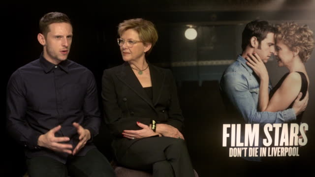 INTERVIEW Jamie Bell Annette Bening on Liverpool being a strong part of the film and the story at 'Film Stars Don't Die in Liverpool' Interviews 61st...