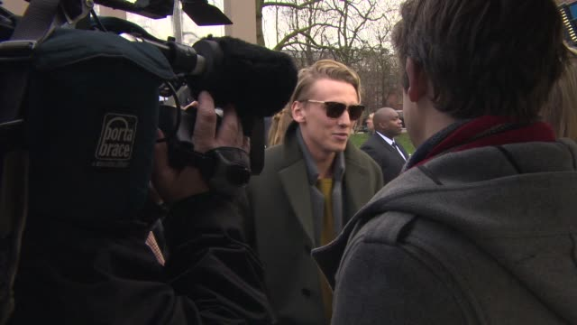 Jamie Campbell Bower at Burberry London Collections Men AW14 on January 8 2014 in London England