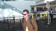 INTERVIEW Jamie Dornan talks about if his prison break movie will really happen while departing at LAX Airport in Los Angeles in Celebrity Sightings...